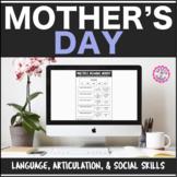 Mother's Day Interactive PDF: Lang, Artic, & Social Skills