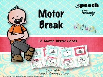 Speech Therapy Motor Break Sticks