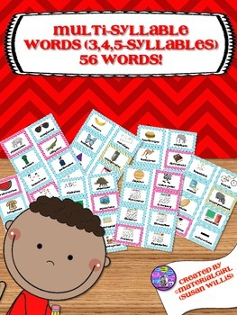 Speech Therapy Multi Multiple Syllable multisyllabic words 56 flash cards
