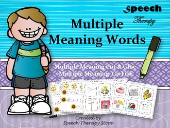 Speech Therapy Multiple Meaning Words Games