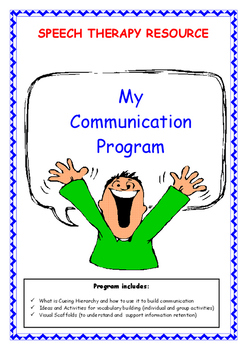 Speech Therapy – My Communication Program (8 pages)