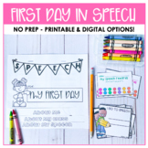 First Day in Speech Therapy Flip Book and Schedule Reminder Cards