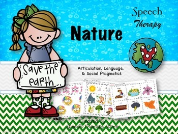 Speech Therapy Nature Bundle: Language, Articulation, & Social Pragmatics