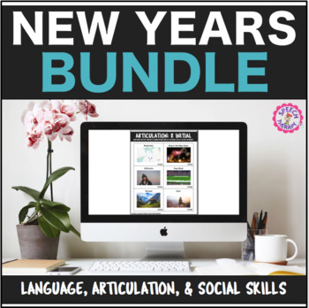 Speech Therapy New Years Bundle: Language, Articulation, & Social Pragmatics