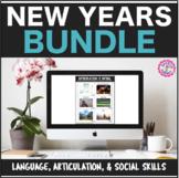 New Years Interactive PDF: Language, Artic, & Social Skill