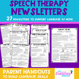Speech Therapy Newsletters to Support Language at Home- Distance Learning