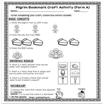 November Speech Therapy | Speech and Language Activities