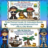 Speech Therapy: /OR/ & /AR/  Pirate-Themed Postvocalic /R/ Articulation Bundle