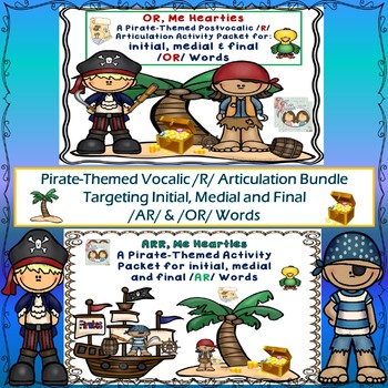 Speech Therapy: /OR/ & /AR/  Pirate-Themed Postvocalic /R/