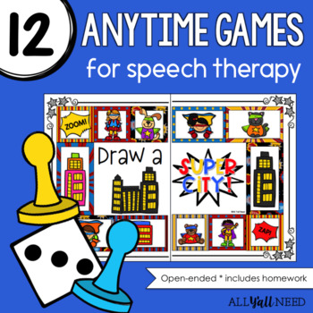 Speech Therapy Open-Ended Games