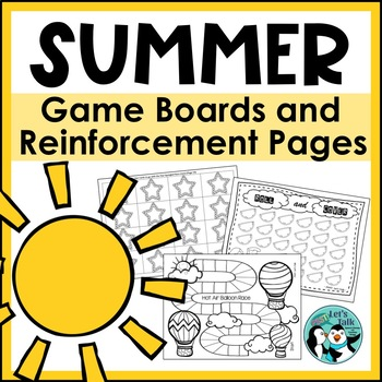 Speech Therapy: Summer Open-Ended Reinforcement Pages