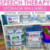Speech Therapy Organization Labels For Storage Bins