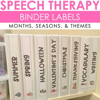 Speech Therapy Binder Labels