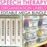Speech Therapy Organization Labels - BUNDLE