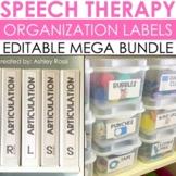 Speech Therapy Organization Labels - EDITABLE BUNDLE