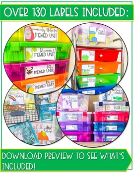 Speech Therapy Organization Labels and Theme Planner