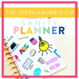 Speech Therapy Organization and Data Planner ( Sanity Planner )