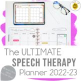 The ULTIMATE Speech Therapy Planner | Digital or Printable SLP Planner 2019-20