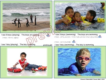 Speech Therapy PICTURE PERFECT GRAMMAR singular plural present tense sentence