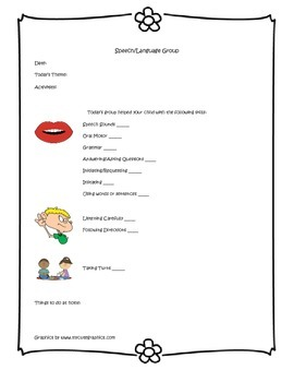 Speech Therapy Parent Communication