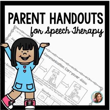 Speech Therapy Parent Handouts