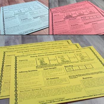 Speech Therapy Parent Handouts | Speech Therapy Ideas for Language