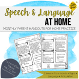 Speech Therapy Parent Handouts for the YEAR