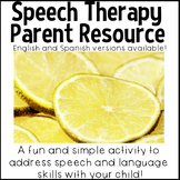 Speech Therapy Parent Resource