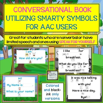 Personalized Conversation Book for AAC Users Utilizing Smarty Symbols