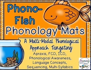 #SEPT2018SLPMUSTHAVE Phonology, Apraxia Phono-Fish Mats for Speech & Language