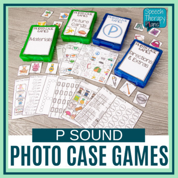 Speech Therapy Activities & Games - Photo Case P Sound