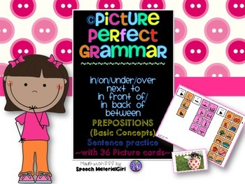 Speech Therapy Picture Perfect Grammar Prepositions Basic