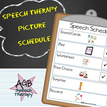 Speech Therapy Picture Schedule