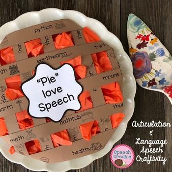 Speech Therapy Pie Craft articulation language craftivity