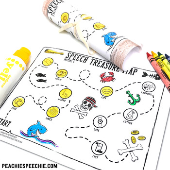 Speech Therapy: Pirate Treasure Maps for Articulation