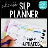 2016-2017 Editable SLP Planner