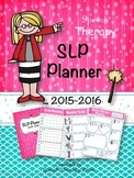 Speech Therapy Planner Calendar for 2015 to 2016