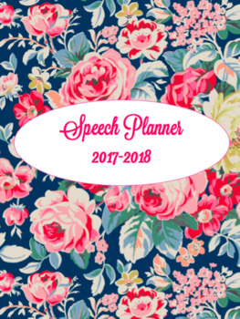 Speech Therapy Planner & Organization Packet 2017-2018