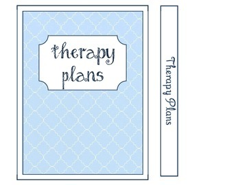 Speech Therapy Planning Pages for Mini Notebooks