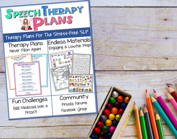 Speech Therapy Plans!