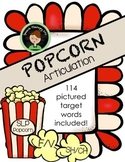 Speech Therapy Popcorn: F, V, SH, and CH Articulation