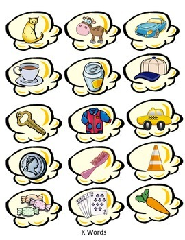 Speech Therapy Popcorn - K and G Articulation