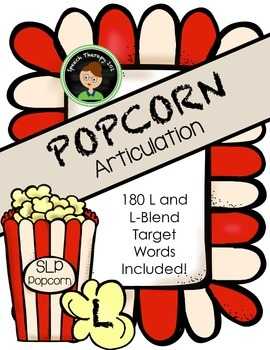 Speech Therapy Popcorn - L Articulation