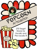 Therapy Popcorn - R Articulation