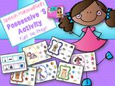 Speech Therapy Possessive 's Grammar Activity No Prep Visual Sentence strip