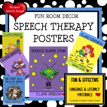 Speech Therapy Posters Room Decor