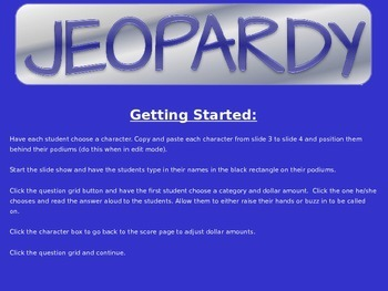 Speech Therapy PowerPoint Jeopardy for /f/, /v/, /k/, /g/, /l/