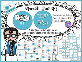 Speech Therapy Pre-vocalic Initial /r/ graphic organizers