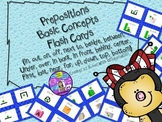 Speech Therapy Prepositions Basic Concepts Visuals Flash Cards Autism