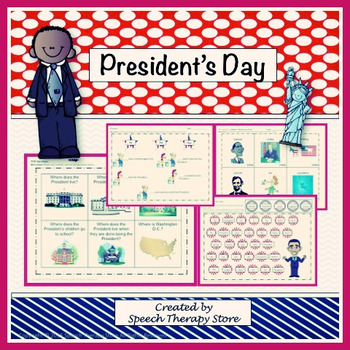 Speech Therapy President's Day Bundle: Language, Articulation, & Social Skills